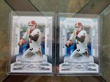 (2) MATTHEW STAFFORD rc ROOKIE 2009 Prestige /999 Card #172 Lions 09 Playoff LOT