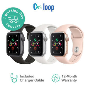 Apple Watch Series 5 - 40mm 44mm - All Case and Band Colours - eBay Certified
