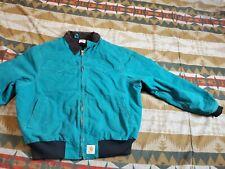 Carhartt Quilted Flannel Lined Santa Fe Jacket Green XL REG