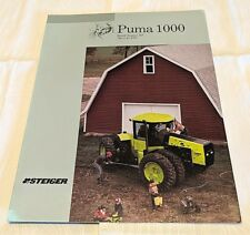 1986 Steiger Puma 1000 Tractor Sales Brochure