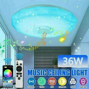 RGB LED Deckenlampe mit Bluetooth Musik Lautsprecher Dimmbar App  Fernbedienung