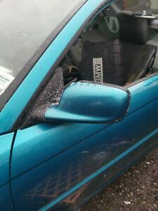 Bmw E46 coupe Passenger Side Electric Wing Mirror Atlantis Blue no Mirror Glass