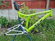 "GT I DRIVE 2000 DOWNHILL FRAME 20"" + FOX Shock - Retro Mountain DH FR Bike Green"