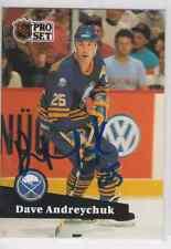 Autographed 91/92 Pro Set Dave Andreychuk - Sabres