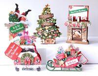 5 x Kanban Die-cut 'Christmas Pop - Ups' incs instructions - Just 80p each (221)