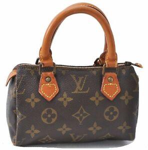 Authentic Louis Vuitton Monogram Mini Speedy Hand Bag Old Model Junk LV D2966