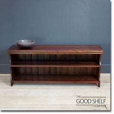 "Shoe Storage Bench Seat Rack 48"" LONG in Dark Oak"