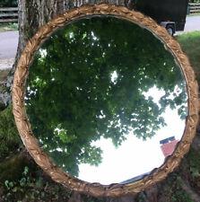 Antique Large Round Ornate Mirror 30 3/4�