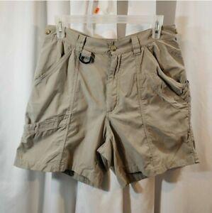 Columbia Sportswear 10 x6 utility shorts active wear hiking camping cargo khaki
