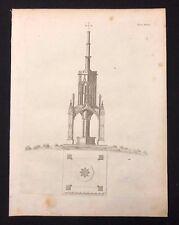Antico 1800 Print costruttori rivista design per un osservatorio Gotico, XXXVIII