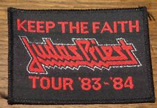 JUDAS PRIEST KEEP THE FAITH 1983 1984 TOUR PATCH THE COLLECTION OF DAVE HOLLAND