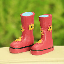 Pink Wellington Boots ~  Fairy Boots ~ Miniature ~ Cake Topper ~ Fairy Garden