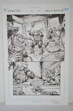 Original TMNT IDW DC Batman/TMNT Freddie E Williams II Issue 2 p1 Art Crossover