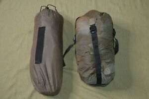 USMC Ecotat Wiggy's Single Tent and Sleeping Bag Coyote Brown 90s Made in USA