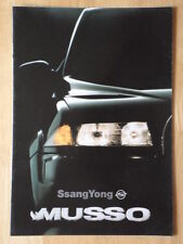 SSANGYONG MUSSO 4x4 Brochure Prospekt 1995-marché hollandais