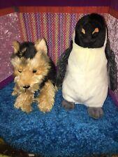 """EUC- 12"""" Webkinz Signature Short Haired Yorkie & Penguin-NO CODE"""