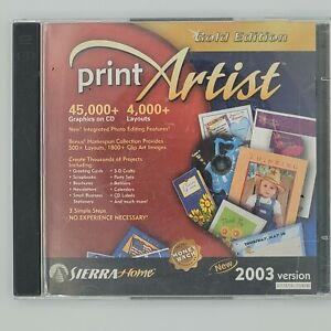 Print Artist Version 22 Gold Edition PC CD 2003 Version