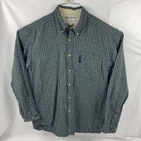 Men's Columbia Long Sleeve Flannel Shirt Button Up Blue 100% Cotton Size M