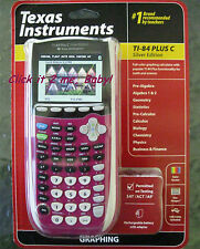 Plum! NEW Ti-84 Plus C Silver Edition Texas Instruments COLOR Graphic Calculator