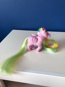 VINTAGE RARE my little pony G1 Curly locks brush n grow long tail