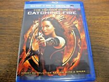 The Hunger Games: Catching Fire (Blu-ray Disc,DVD 2014)  (free shipping)