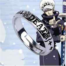Hot Anime One Piece Trafalgar Law Ring 925 Sliver Cos Gift Adjustable MH