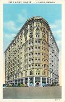 Atlanta Georgia~Piedmont Hotel~1938 Cars~Postcard