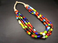 N4099 BOLD Ethnic Multi Strand Glass beads BOHO Tribal Fashion NECKLACE TIBETAN