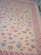 Vintage Sheridan Australia KEN DONE Full Size Duvet Cover Seashells Pink & Blue