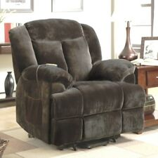 Brown Padded Back Power Lift Recliner Arm Chair Recliners Chairs Armchairs NEW