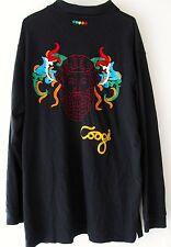 Coogi Australia 4XL Black Polo Shirt Colorful Embroidery Mens Long Sleeves XXXXL