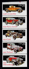 UNITED STATES SCOTT# 2385a MNH   BOOKLET PANE OF 5  CLASSIC AUTOMOBILES