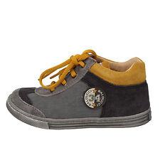 scarpe bambino BALDUCCI 23 EU sneakers grigio camoscio tessuto AD595-G
