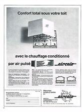 PUBLICITE ADVERTISING 094  1969  AIRCALO   chauffage conditionné air pulsé