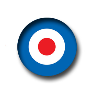 20 x MOD TARGET PIN BADGES (25mm / 1 inch) CHEAP POSTAGE FOR BULK BUYS