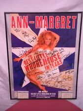 AUTOGRAPHED SIGNED ANN MARGRET THE BEST LITTLE WHOREHOUSE N TEXAS MUSICAL POSTER