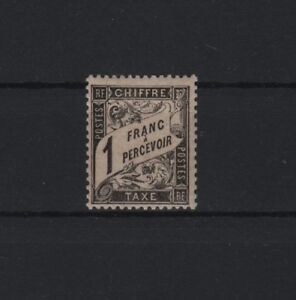 """FRANCE TAXE POSTAGE DUE YVERT 22  """" TYPE DUVAL 1F BLACK """" MNH VF SIGNED   R635"""