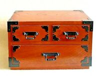 Japanese Tansu cheset storage Box Wooden 25.3cm