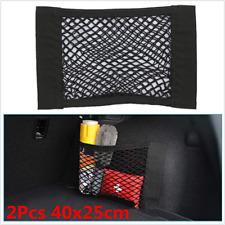 2Pcs Black Universal Car Seat Back Storage Mesh Net Bag Cargo Trunk Accessories