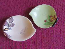 2 Carltonware jewellery dishes. One cream and one light green.