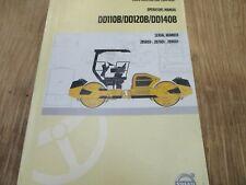 Volvo Dd110b Dd120b Dd140b Asphalt Compactor Operators Manual