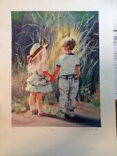 """FINE ART LITHOGRAPH: """"First Flame"""" Artist Proof By Victoria Brooks 17.5 X 26.5"""