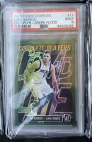 2019 PANINI DONRUSS LUKA DONCIC COMPLETE PLAYERS GREEN FLOOD #11 PSA 9 MINT