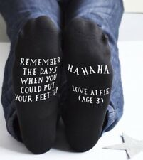 Personalised Custom Text Mens Women's Socks Birthday Fathers Day Gift Christmas
