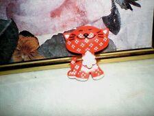 Avon Red Calico Cat Kid'S Pinpal - 1973