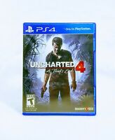 UNCHARTED 4 A THIEF'S END (2016) PS4 [GAME & CASE] Good & Tested *FREE SHIPPING*