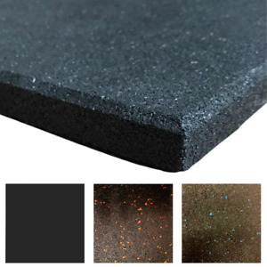 Rubber Gym Floor Tiles   Heavy Duty Rubber Crumb Gym Mats   Non-Slip   1m x 1m