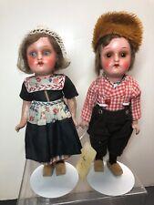 8� Antique German Heubach Kopplesdorf All Original Adorable Dutch Couple #Sf