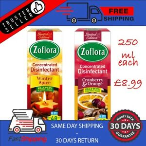 Zoflora Disinfectant Winter Assortment 250ml Cranberry Orange + Winter Spice x 2