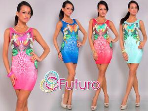 Ladies Bodycon BUTTERFLY Print Scoop Neck Mini Dress Tunic Sizes 8-10 FC5529